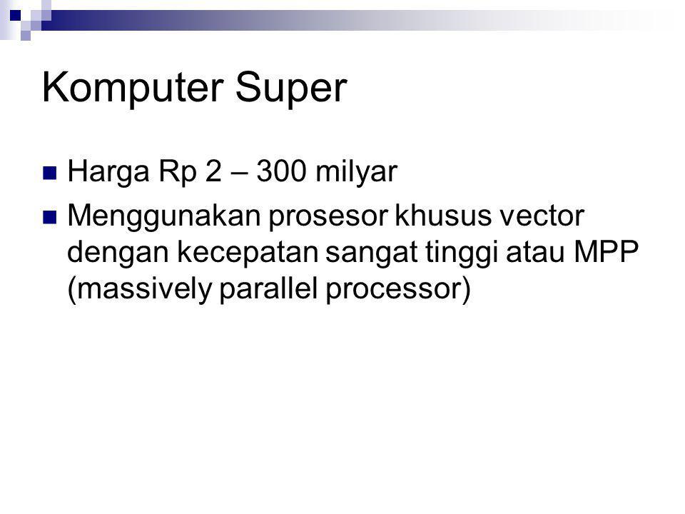 Komputer Super Harga Rp 2 – 300 milyar
