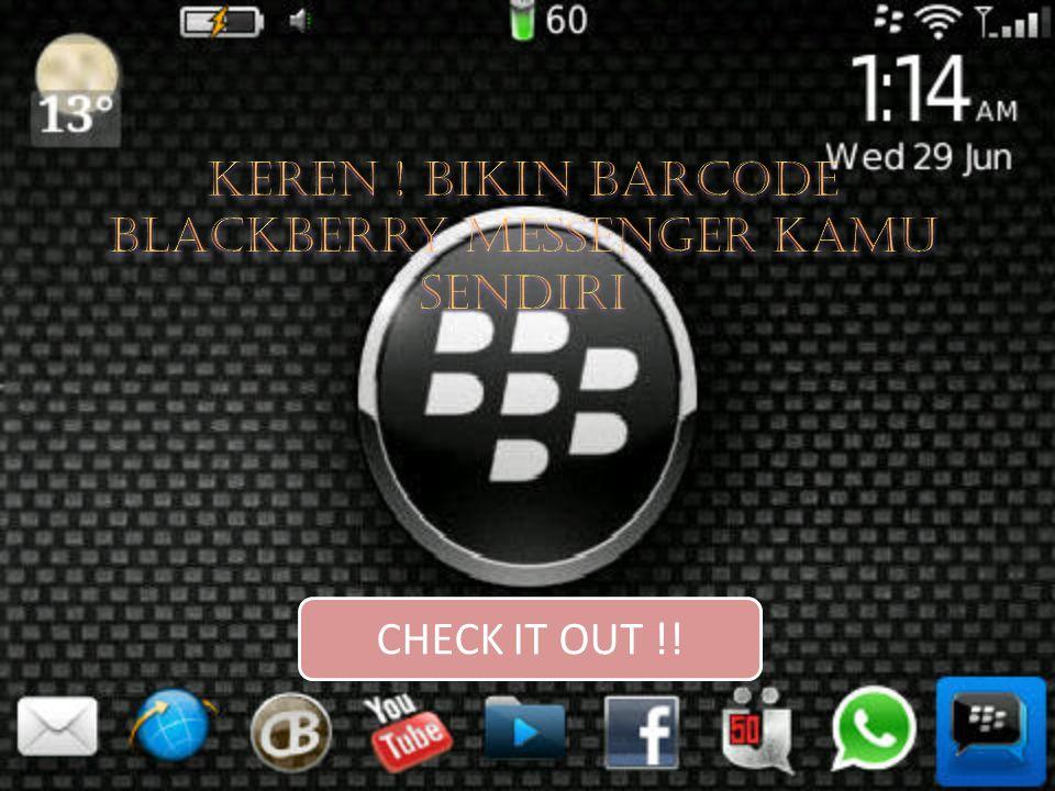 Keren ! Bikin Barcode Blackberry Messenger Kamu Sendiri