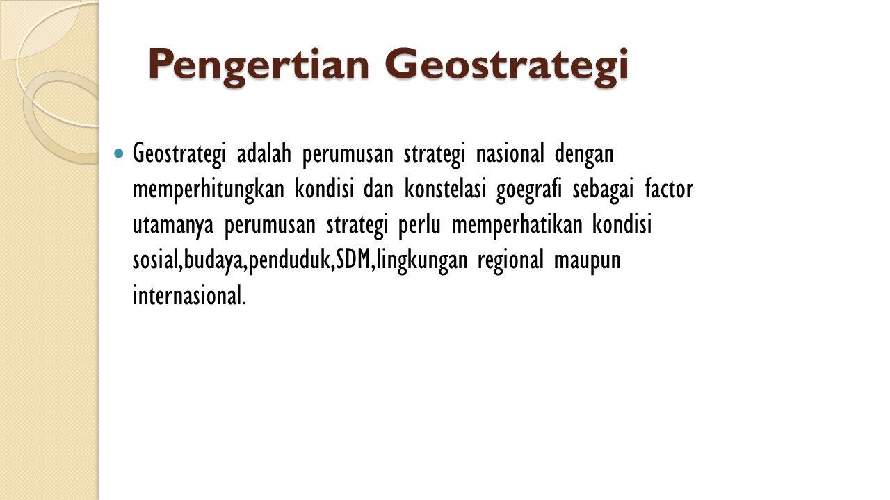 Pengertian Geostrategi
