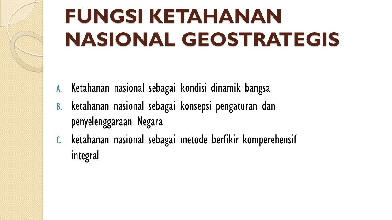 FUNGSI KETAHANAN NASIONAL GEOSTRATEGIS