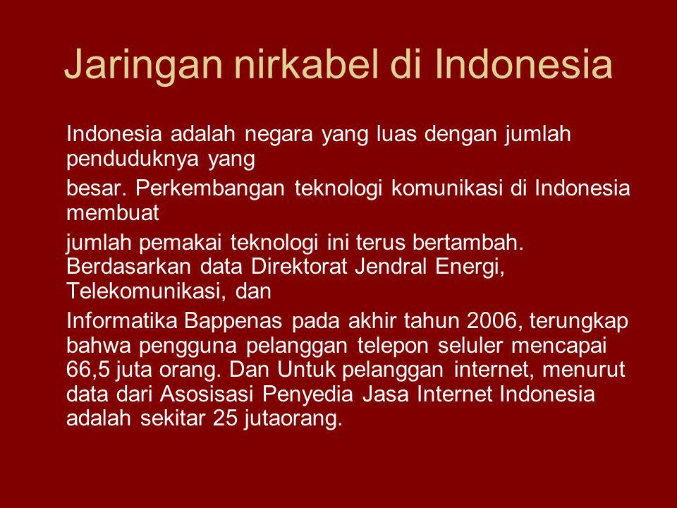 Jaringan nirkabel di Indonesia