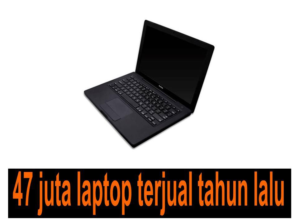 47 juta laptop terjual tahun lalu