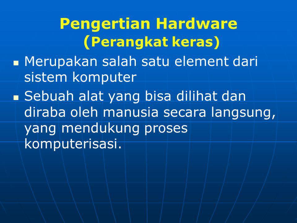 Pengertian Hardware (Perangkat keras)