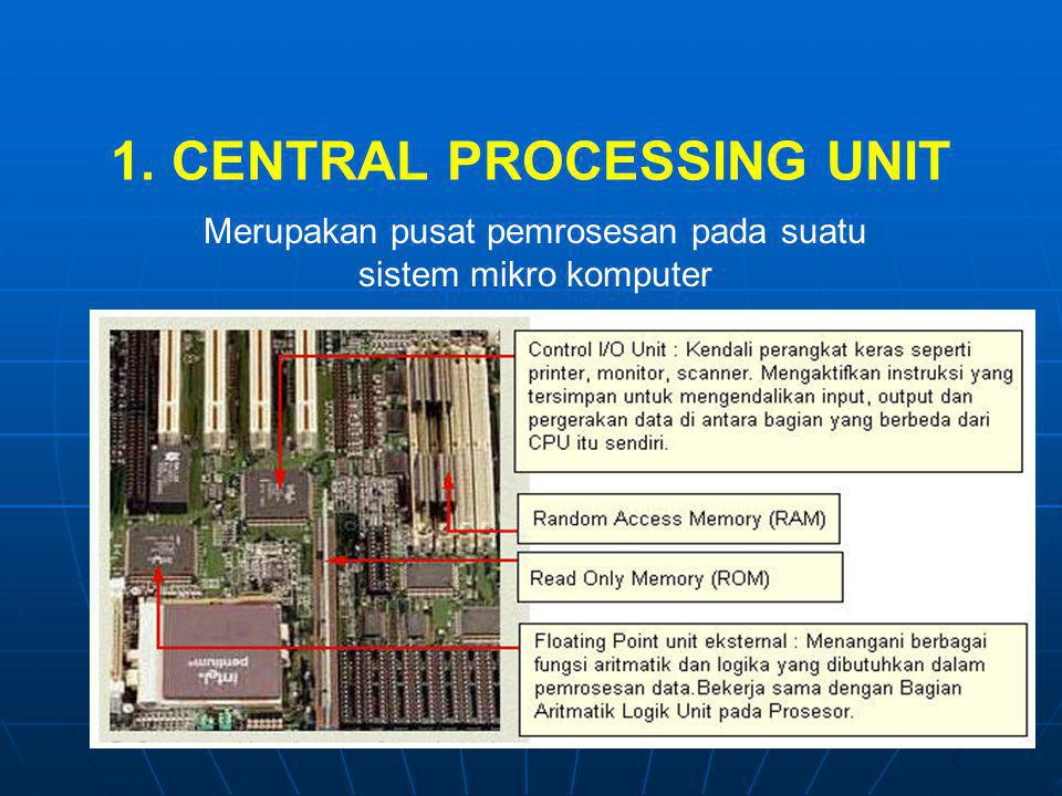 1. CENTRAL PROCESSING UNIT
