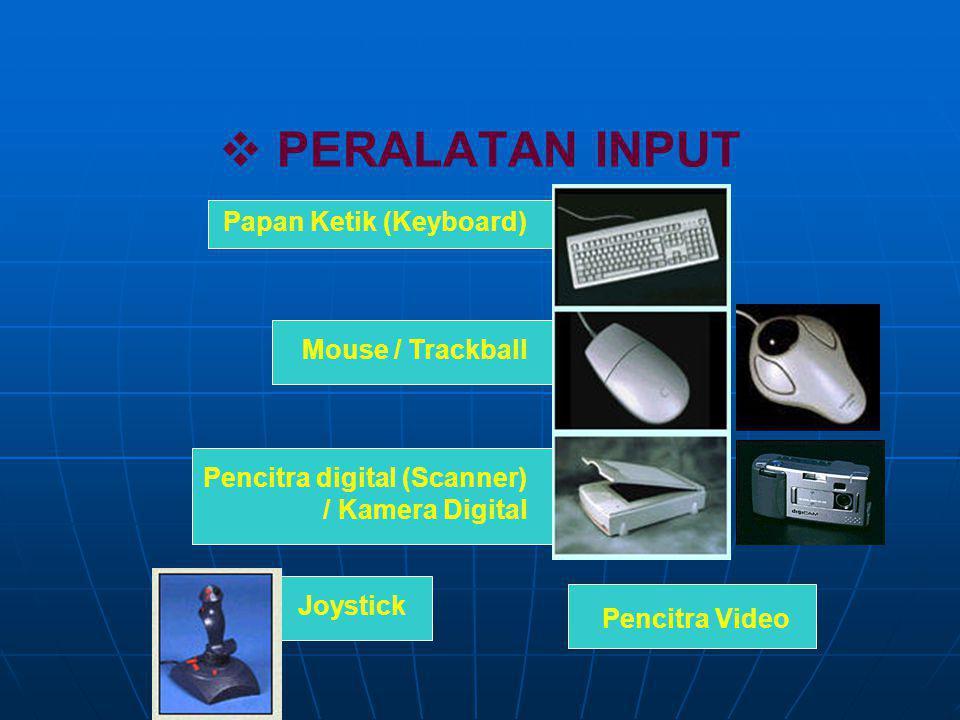 PERALATAN INPUT Papan Ketik (Keyboard) Mouse / Trackball