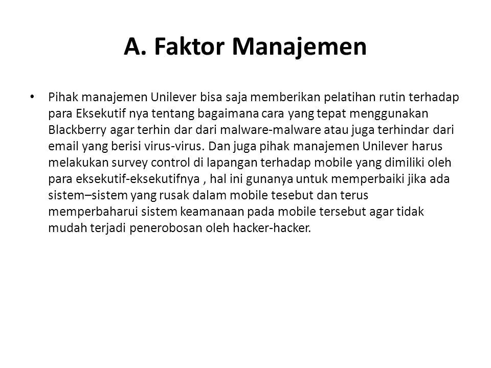 A. Faktor Manajemen