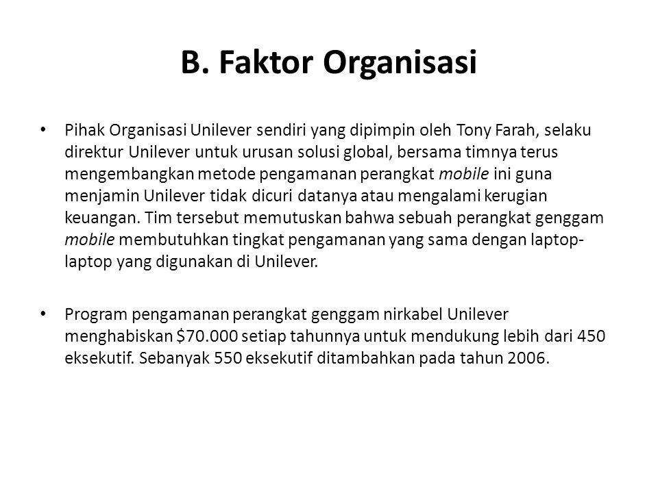 B. Faktor Organisasi