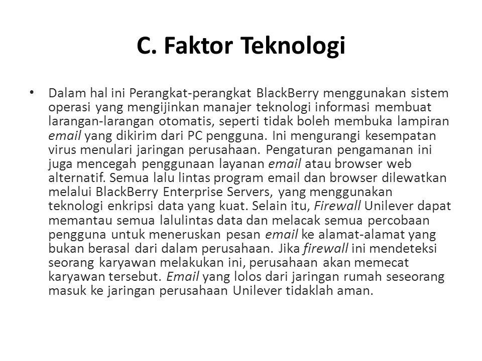 C. Faktor Teknologi