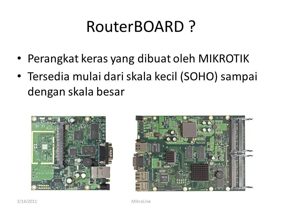 RouterBOARD Perangkat keras yang dibuat oleh MIKROTIK