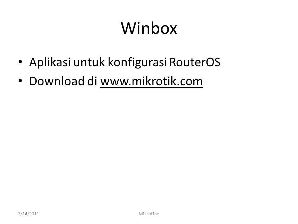 Winbox Aplikasi untuk konfigurasi RouterOS