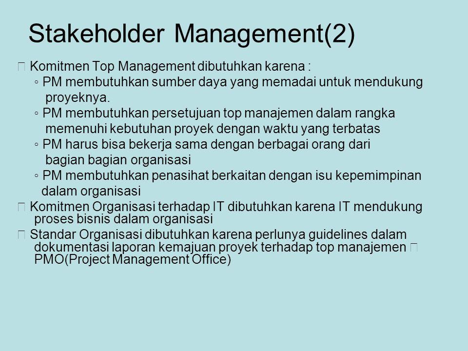 Stakeholder Management(2)