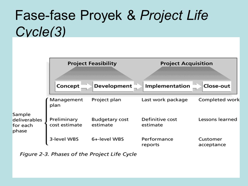 Fase-fase Proyek & Project Life Cycle(3)