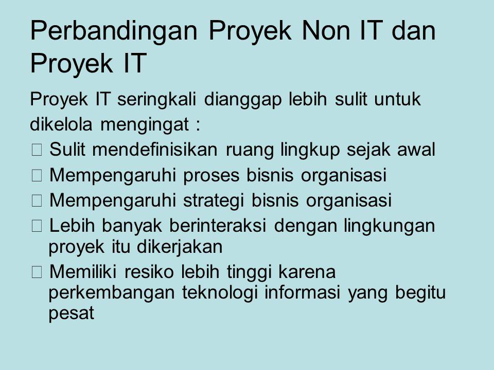 Perbandingan Proyek Non IT dan Proyek IT