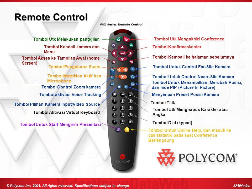Remote Control Tombol Utk Melakukan panggilan