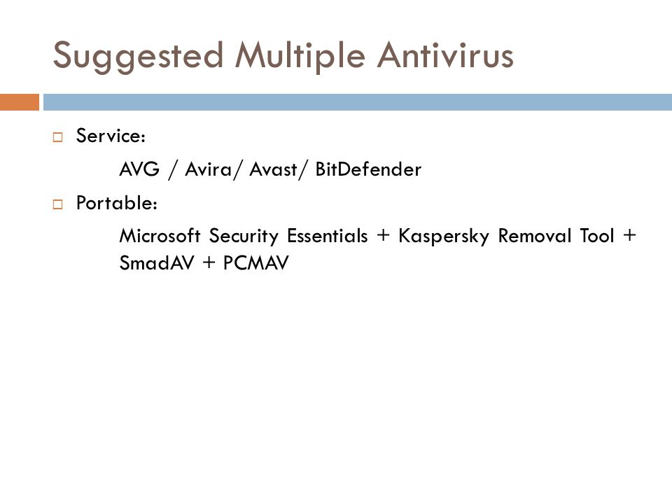 Suggested Multiple Antivirus