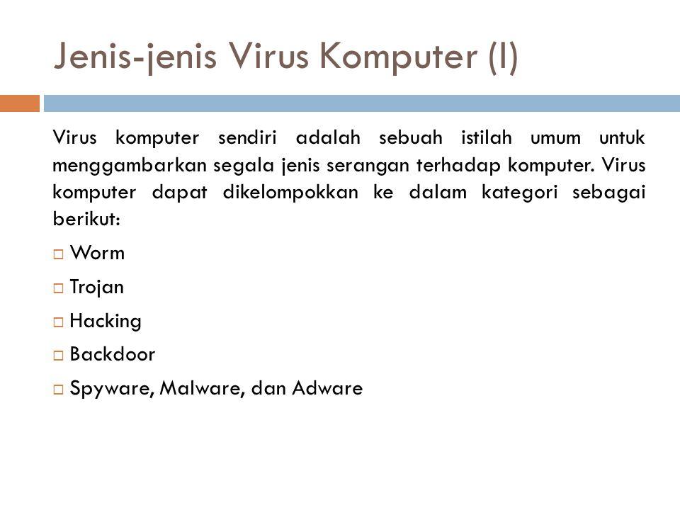 Jenis-jenis Virus Komputer (I)