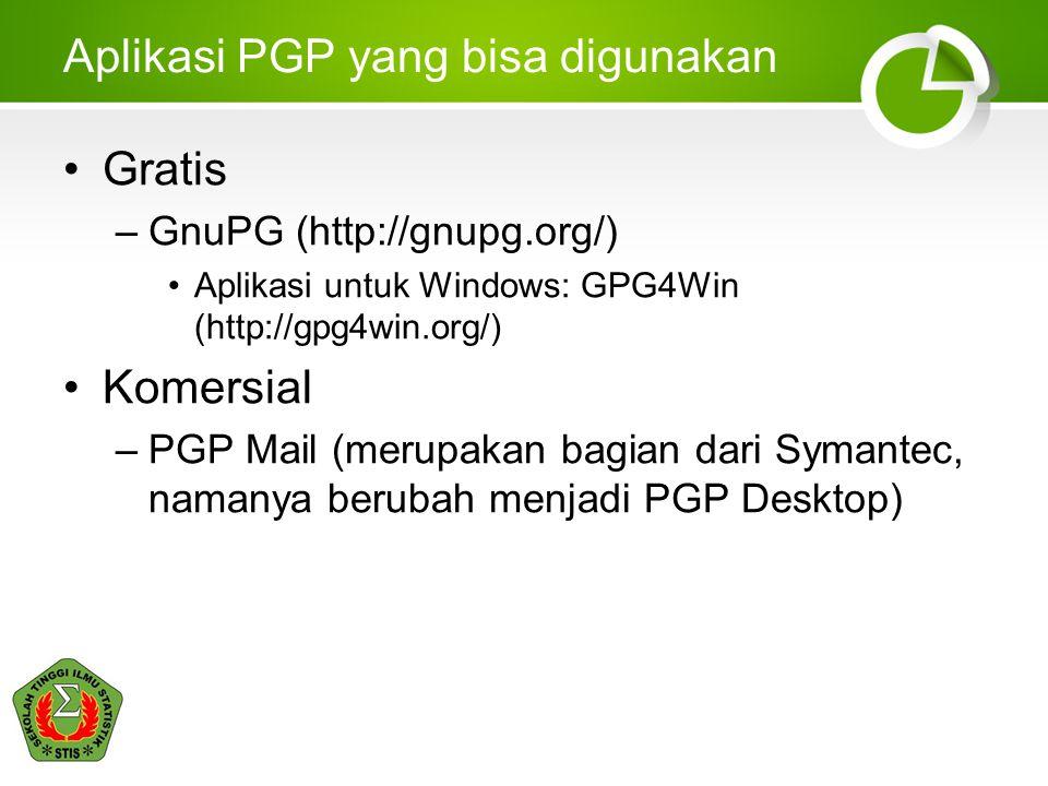Aplikasi PGP yang bisa digunakan