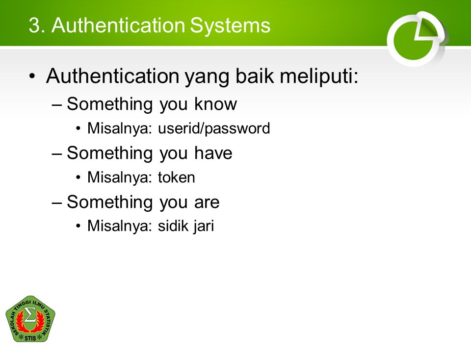 3. Authentication Systems