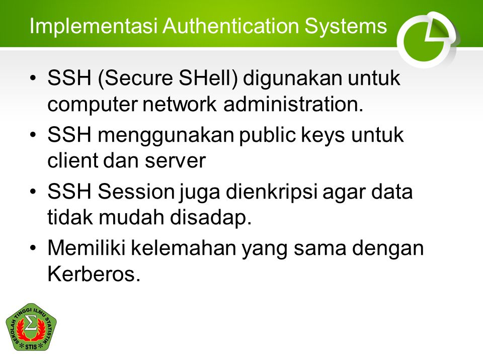 Implementasi Authentication Systems