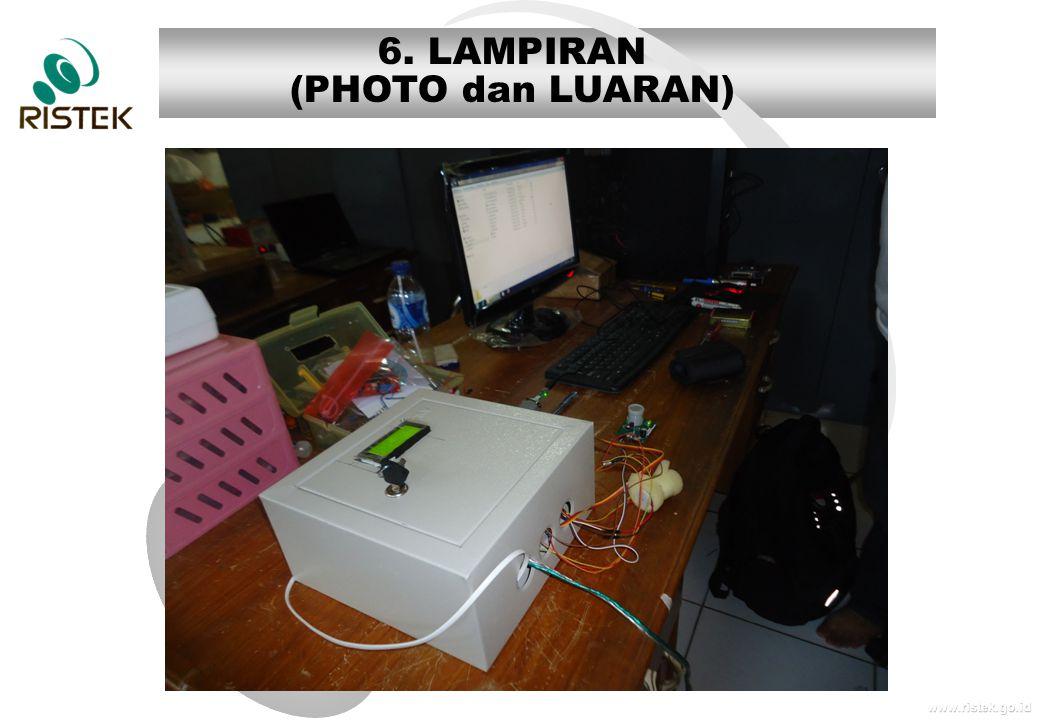 6. LAMPIRAN (PHOTO dan LUARAN)