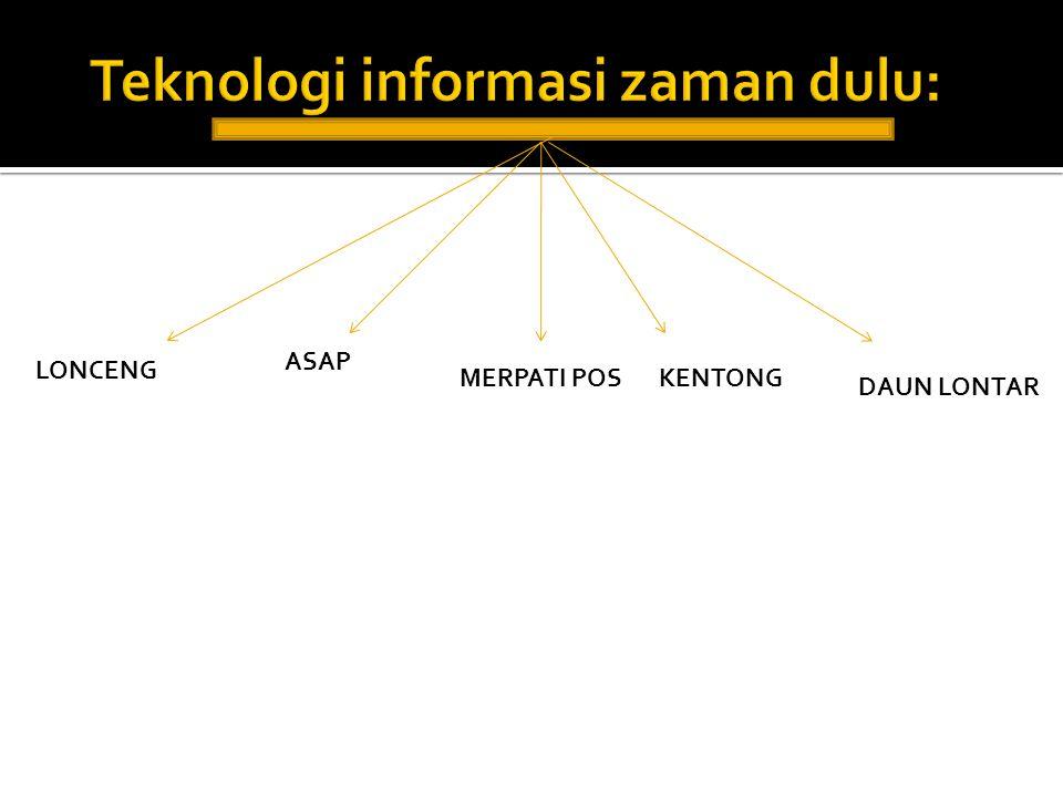Teknologi informasi zaman dulu: