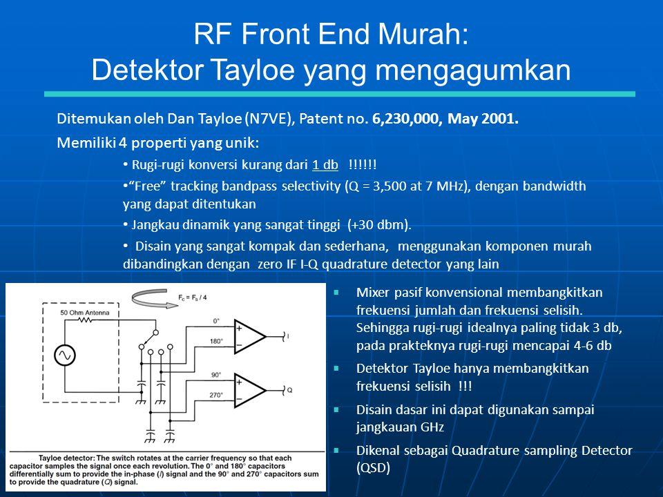 RF Front End Murah: Detektor Tayloe yang mengagumkan