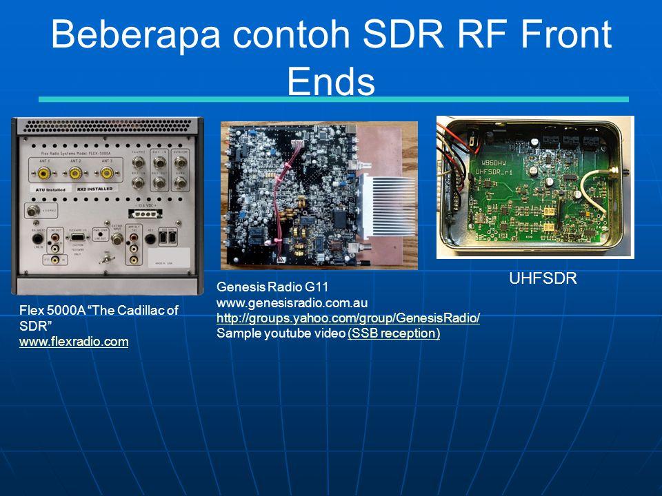 Beberapa contoh SDR RF Front Ends