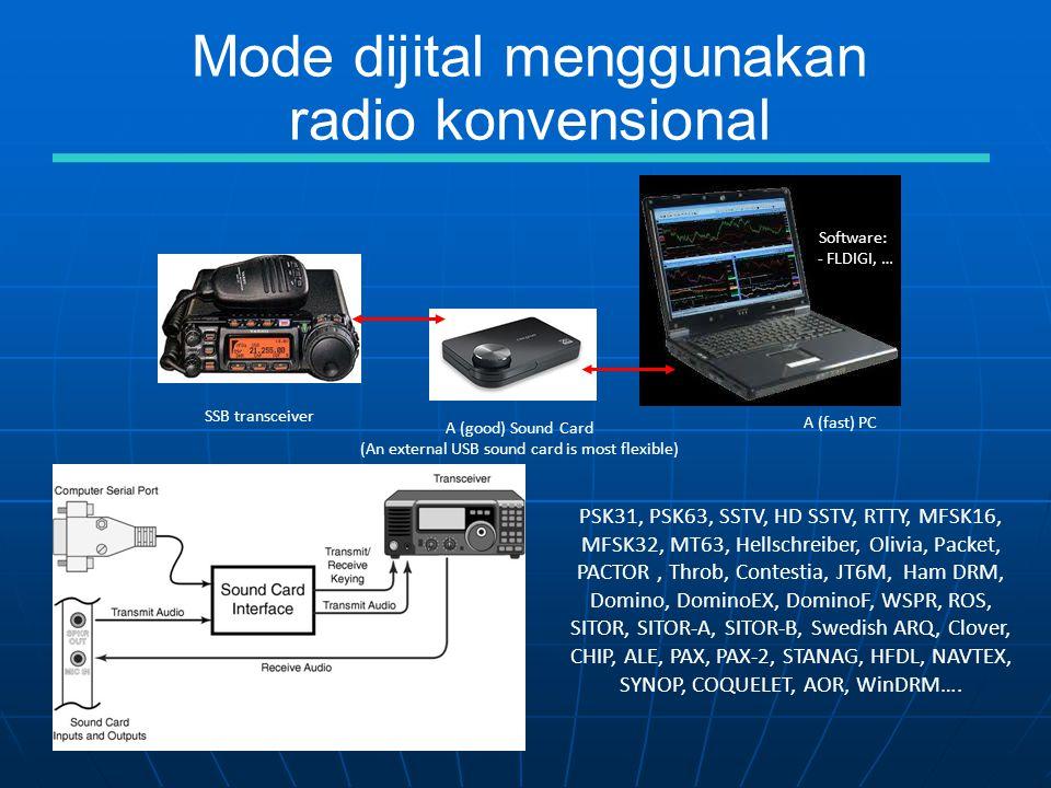 Mode dijital menggunakan radio konvensional