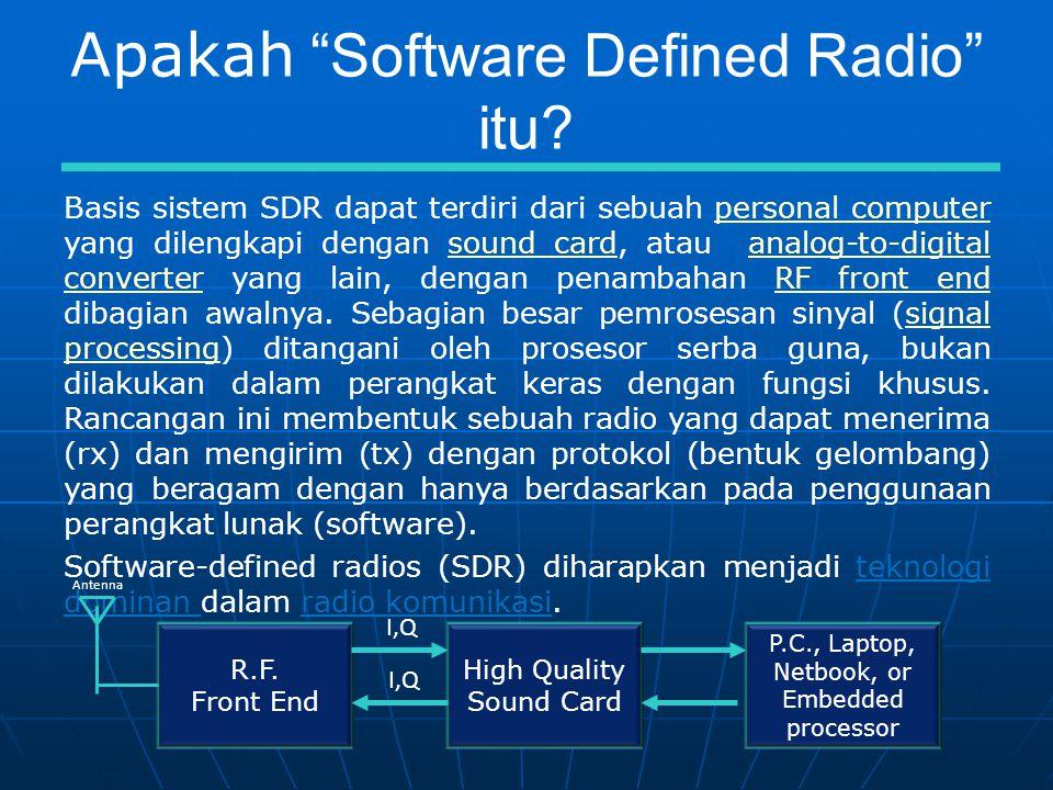 Apakah Software Defined Radio itu