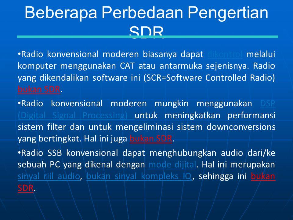 Beberapa Perbedaan Pengertian SDR