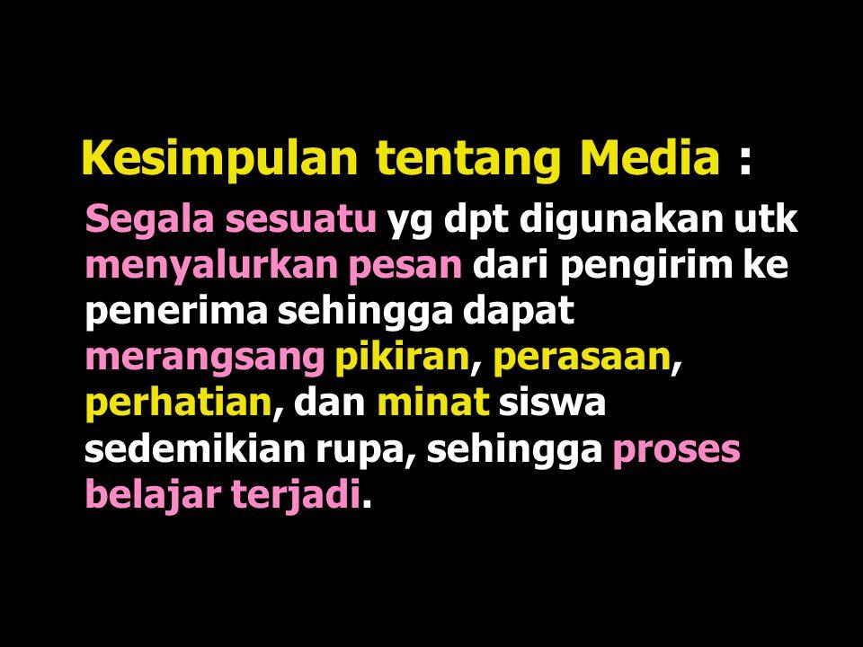 Kesimpulan tentang Media :