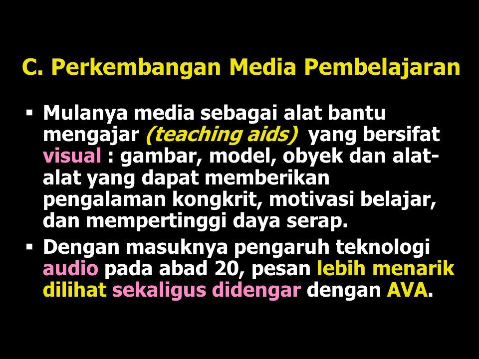 C. Perkembangan Media Pembelajaran