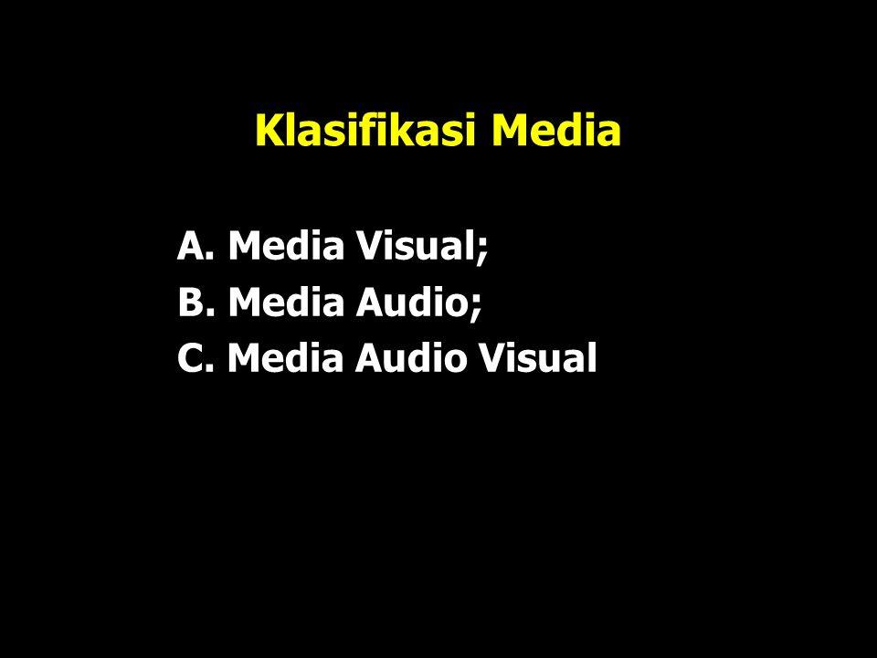 Klasifikasi Media A. Media Visual; B. Media Audio;