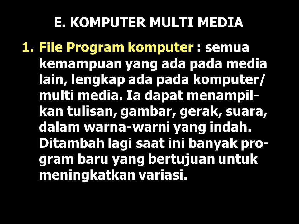 E. KOMPUTER MULTI MEDIA