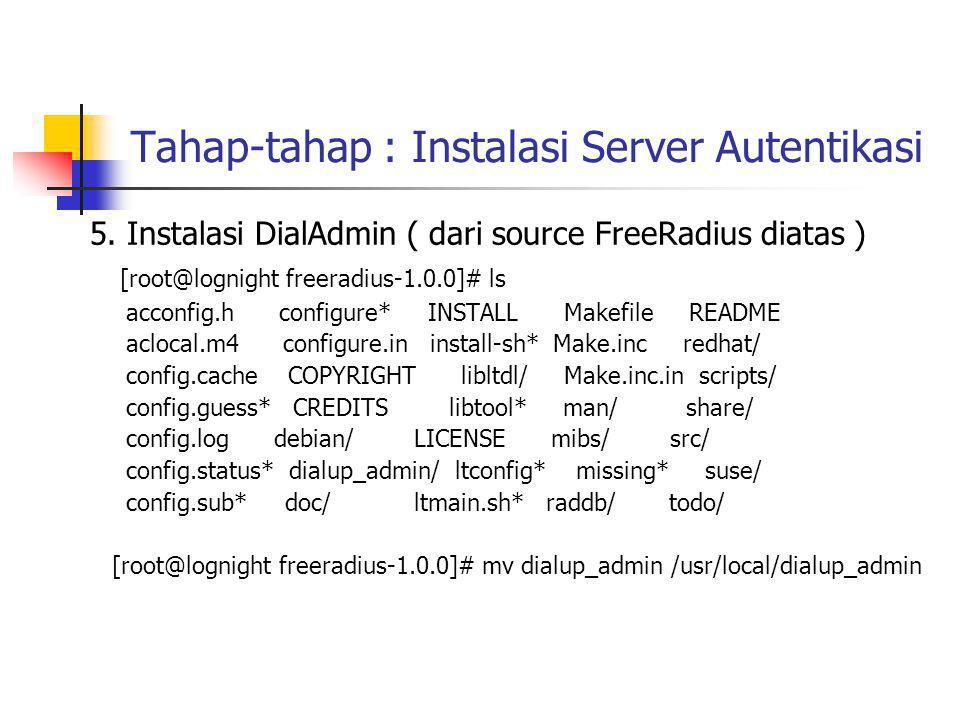 Tahap-tahap : Instalasi Server Autentikasi