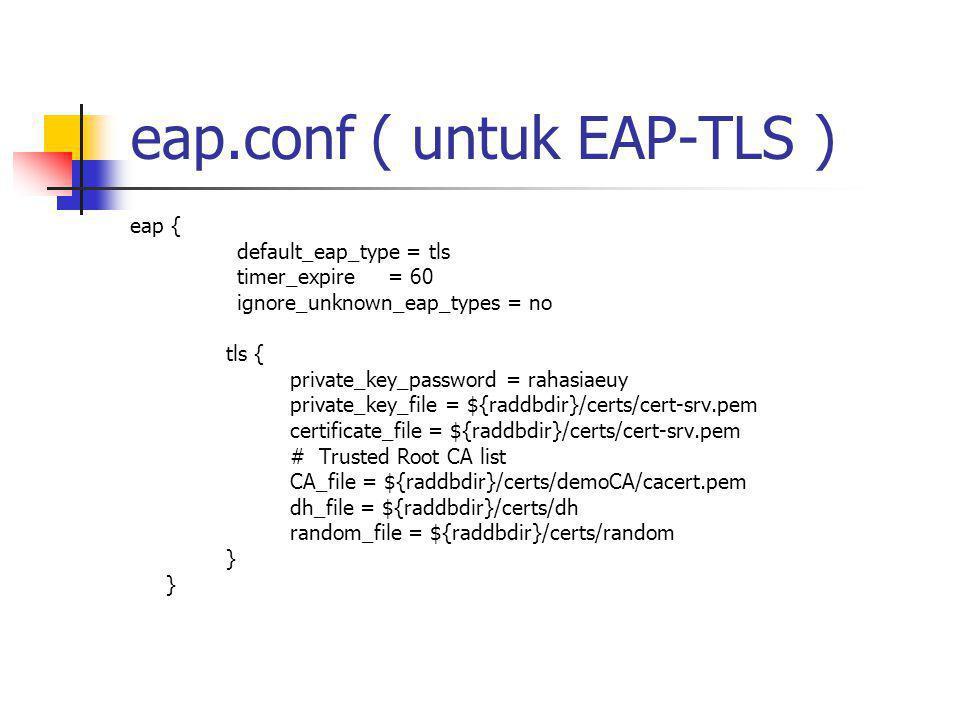 eap.conf ( untuk EAP-TLS )