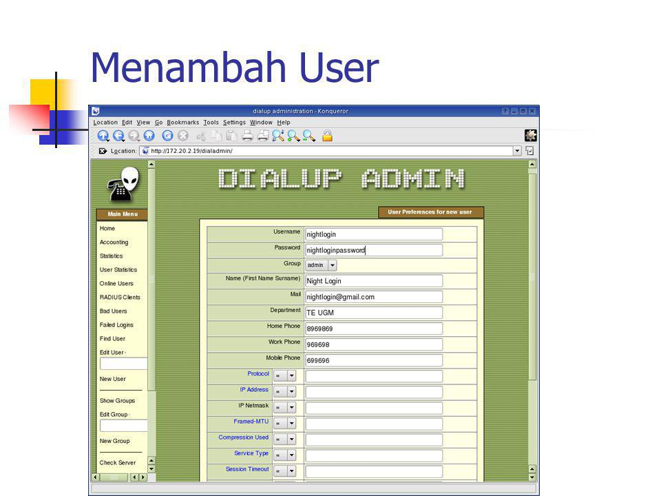 Menambah User