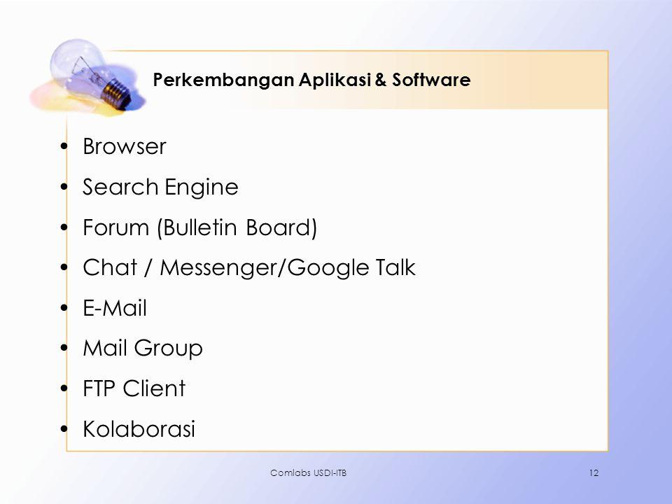 Perkembangan Aplikasi & Software