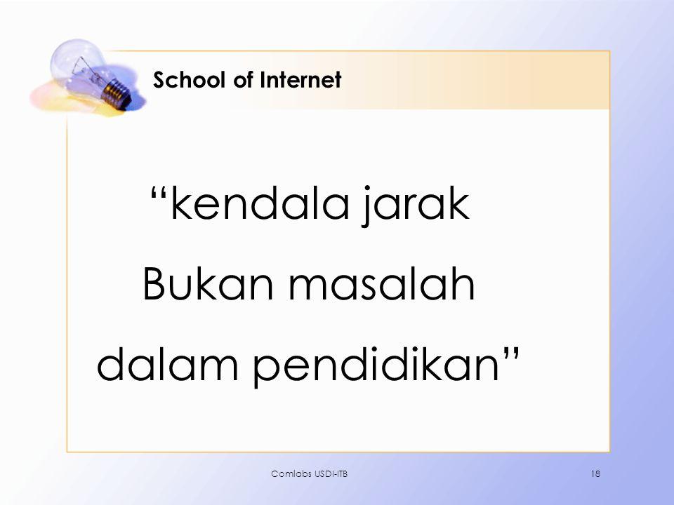kendala jarak Bukan masalah dalam pendidikan School of Internet