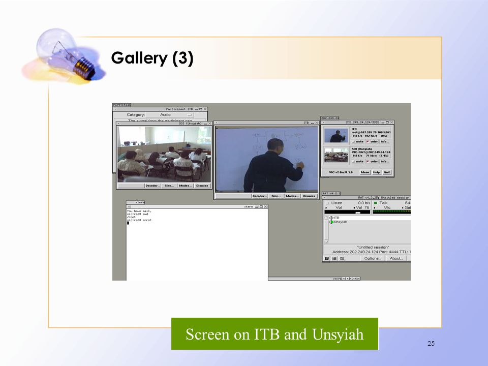 Screen on ITB and Unsyiah
