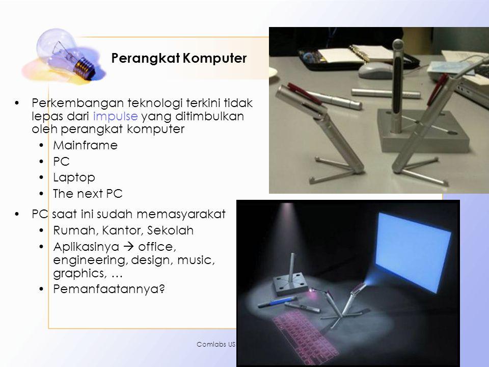 Perangkat Komputer Perkembangan teknologi terkini tidak lepas dari impulse yang ditimbulkan oleh perangkat komputer.