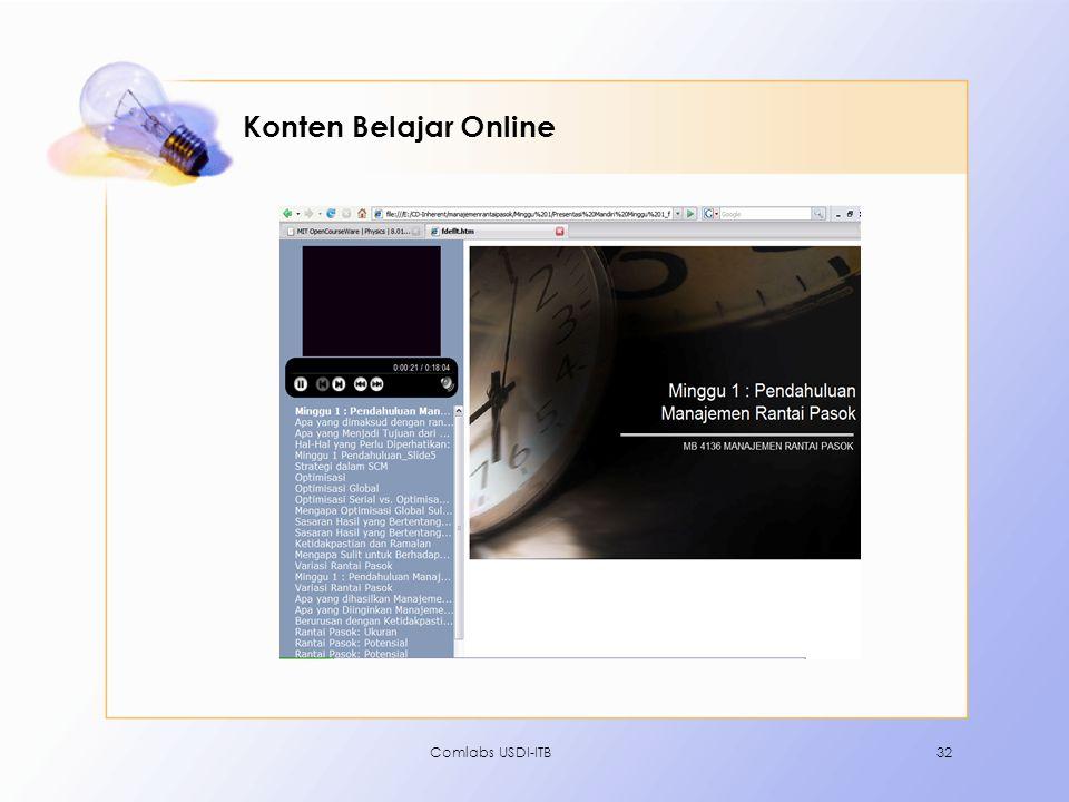 Konten Belajar Online Comlabs USDI-ITB