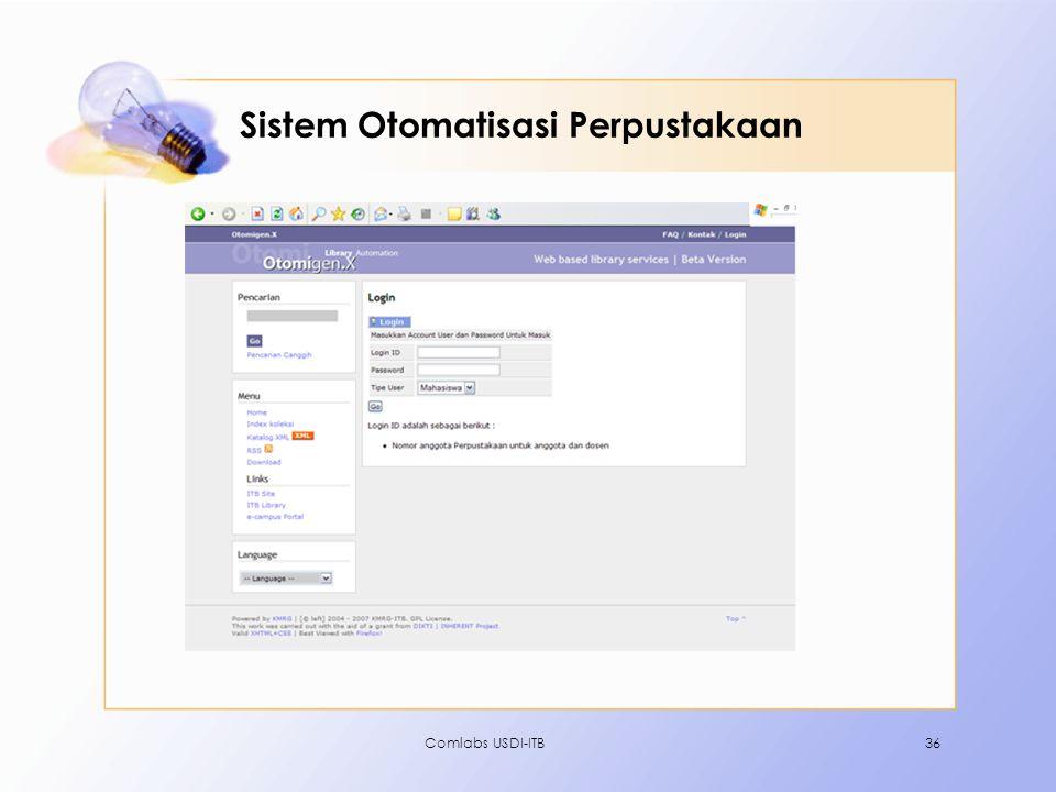 Sistem Otomatisasi Perpustakaan