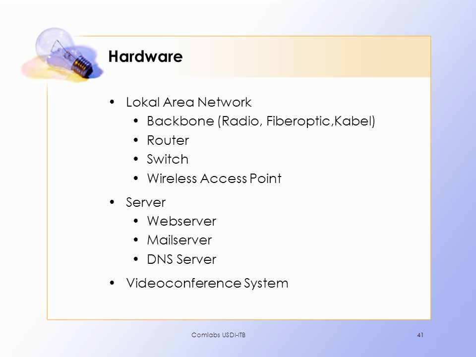 Hardware Lokal Area Network Backbone (Radio, Fiberoptic,Kabel) Router