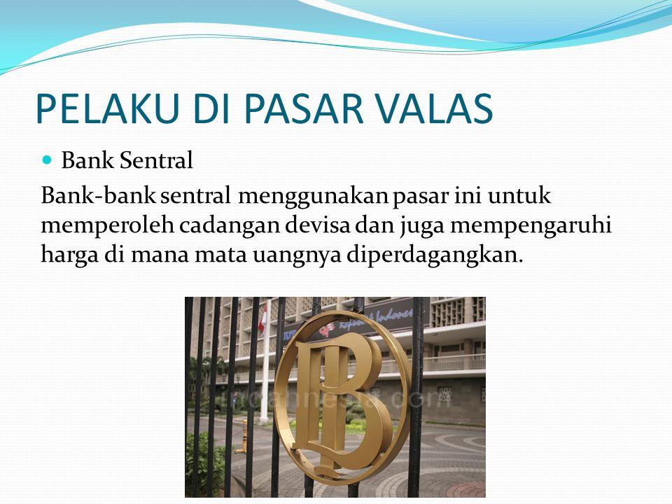 PELAKU DI PASAR VALAS Bank Sentral