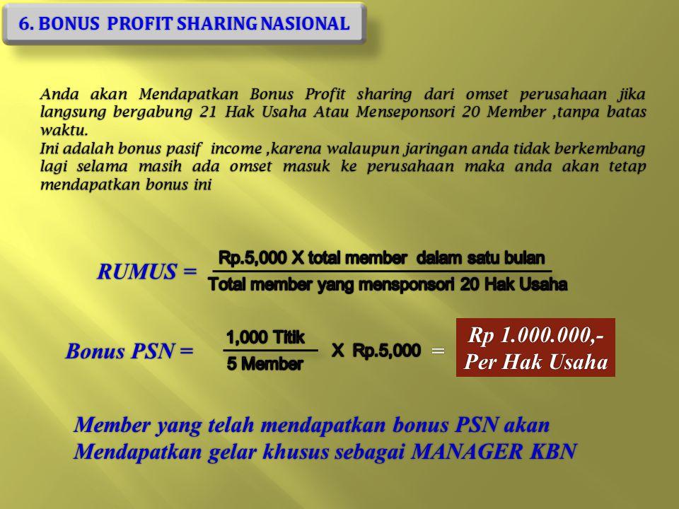 6. BONUS PROFIT SHARING NASIONAL