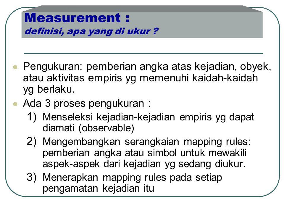 Measurement : definisi, apa yang di ukur