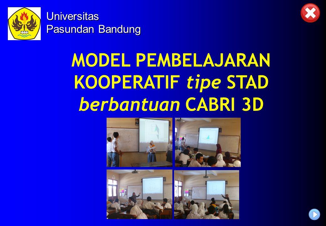 MODEL PEMBELAJARAN KOOPERATIF tipe STAD berbantuan CABRI 3D