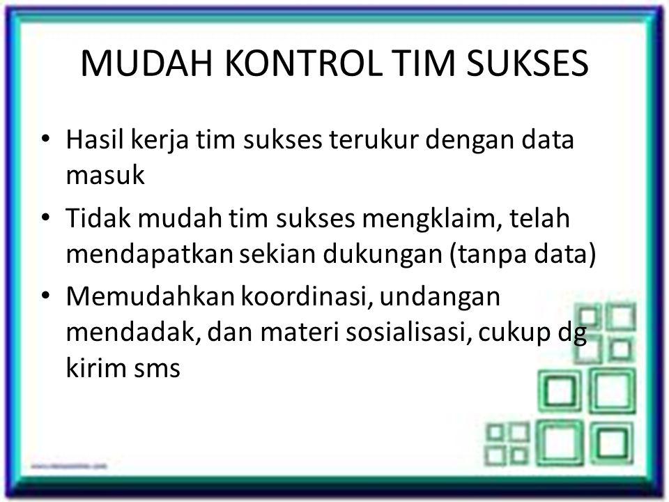 MUDAH KONTROL TIM SUKSES