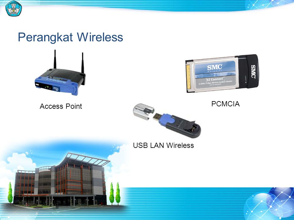 Perangkat Wireless PCMCIA Access Point USB LAN Wireless